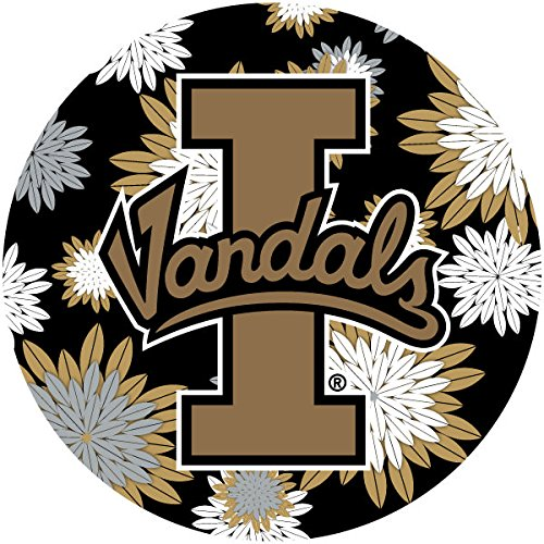 (R and R Imports, Inc Idaho Vandals NCAA Collegiate Trendy Floral Flower Fashion Pattern 4 Inch Round Decal)