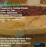 Serveon Sealants H2Seal H2100 Stone Sealer - Professional Grade for Natural Stone, Grout, Brick, Tile and Artificial Stone (1 Gallon, Stone Sealer)