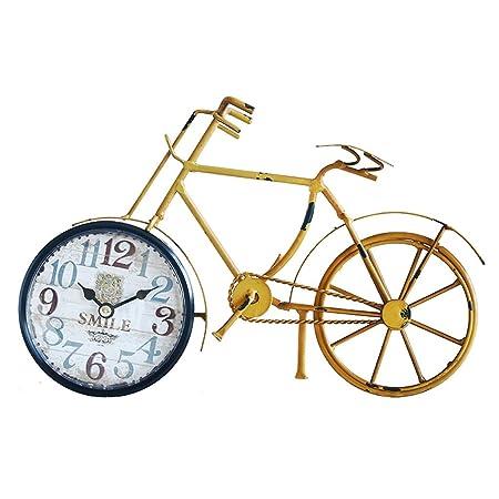 CXQ Vintage Reloj de Metal de Hierro Forjado Bicicleta Sala de ...
