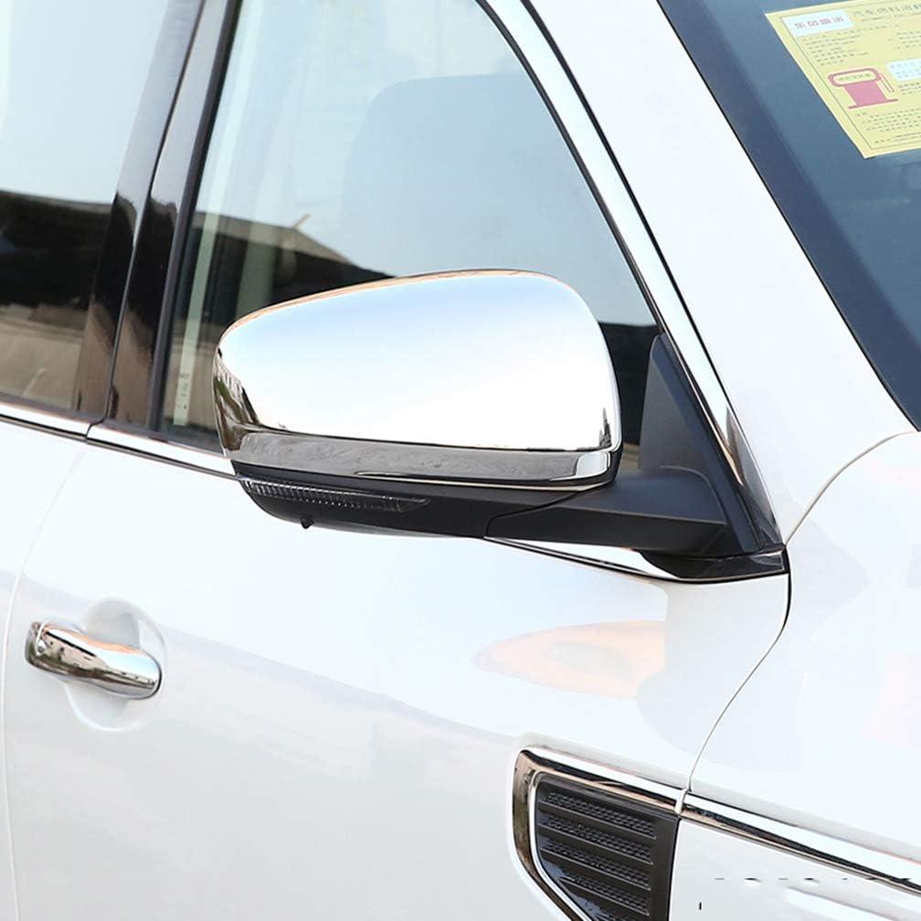 AKKNE 2Pcs Auto Chrom ABS R/ückspiegel Spiegelabdeckungen f/ür Renault Kadjar Koleos Samsung QM6 2016-2019 Side Rear View Mirror Wing Covers Abdeckungen Protector Trim Cap Car Styling Zubeh/ör