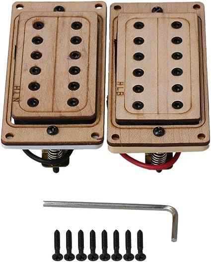 Yibuy - Juego de pastillas para guitarra eléctrica (50/52 mm, con ...