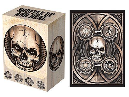 100 Dead Man's Hand Deck Protectors & Deck Box Combo Set Legion Supplies Matte Finish Sleeves 2-Packs – Standard Magic the Gathering Size