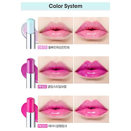 ETUDE HOUSE Glass Tinting Lips Talk, Pink pk001, 4 Count