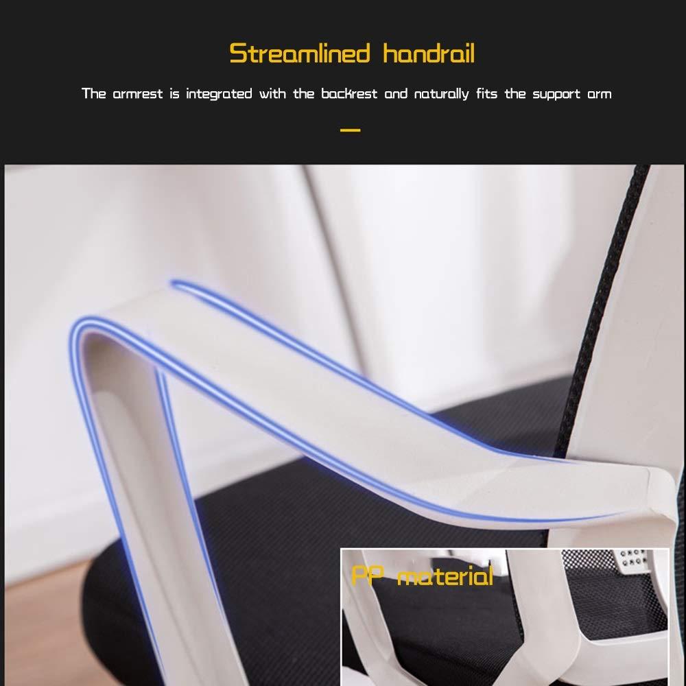 Kontorsstol hög rygg datorstol rosett fot ergonomisk spelstol med ländrygg stöd excutive kontorsskrivbordsstol för sovsal rum studier bärande kapacitet: 150 kg (färg: svart) BLÅ