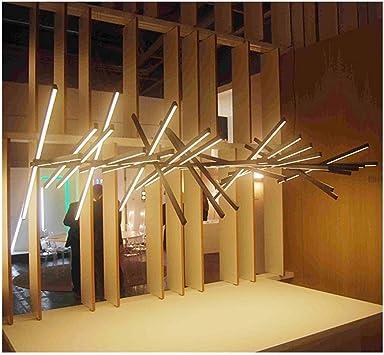 LLLKKK Postmoderno Restaurante nórdico, Oficina, mostrador, Bar, Arte, lámpara, Sala de Estar, Forma cambiante, lámpara de Hueso de Pescado (Color : Negro-10 Heads): Amazon.es: Hogar
