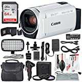 Canon Vixia HF R800 HD Camcorder (White) Deluxe Bundle W/ Camcorder Case, 64 GB SD Card, 3 Pc. Filter Kit, LED Light Kit, and Xpix Cleaning Accessories