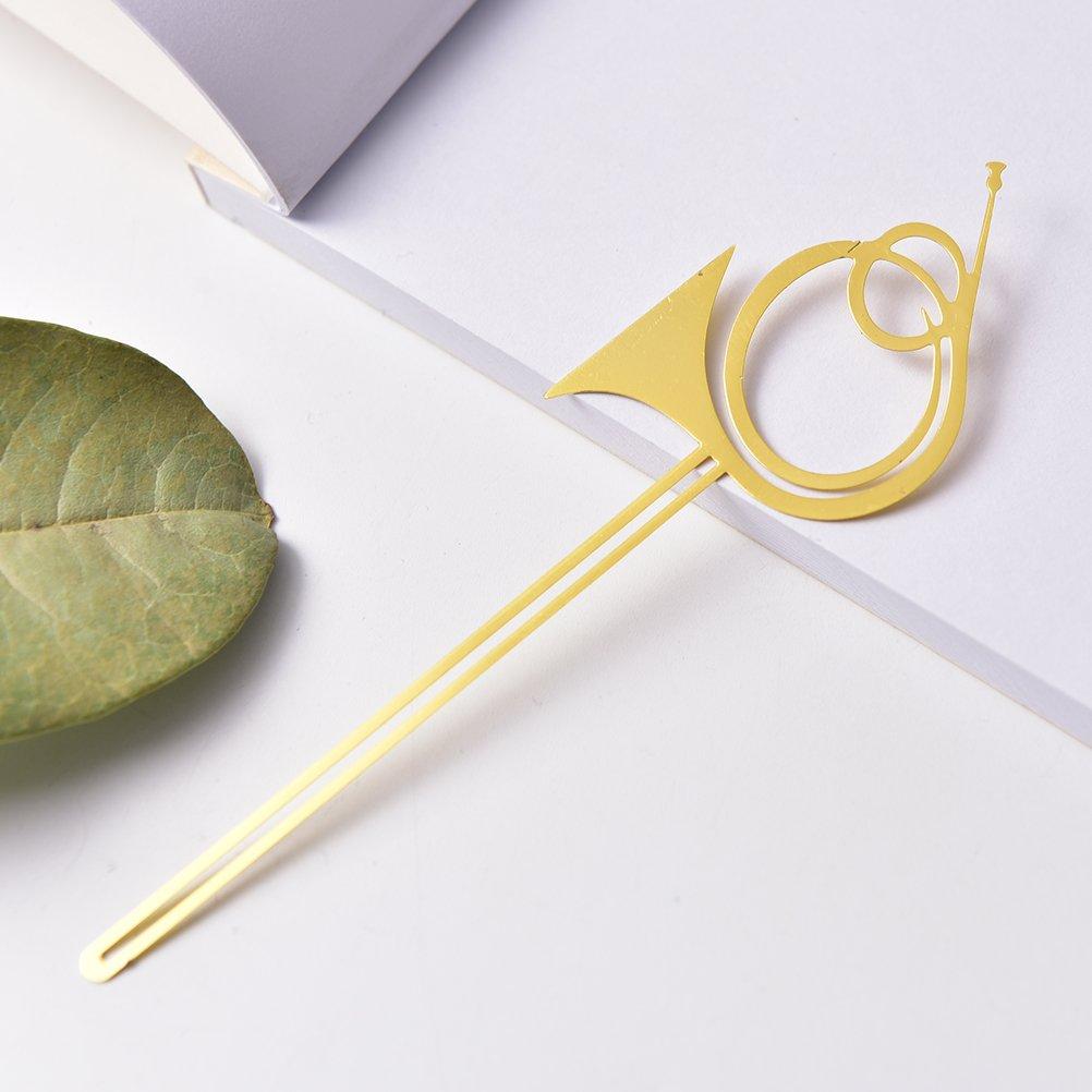 DAMENGXIANG 10 Unids Instrumentos Musicales De Oro Marcadores Metal De Libros De Metal Marcadores Marcadores Para Libros Clips De Papel Oficina Material Escolar Papelería Violín 851b3f