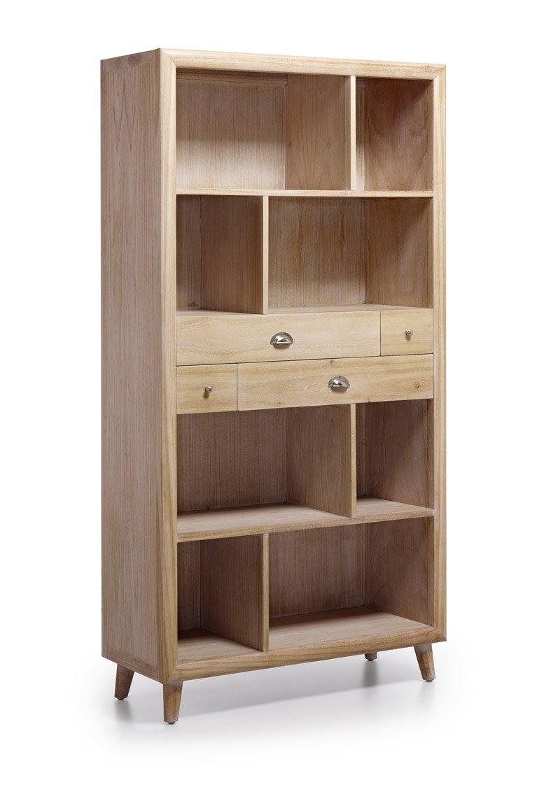 Dekorativer Regalschrank aus Holz : Kollektion BROMO 100x190x40cms ...