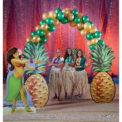 Tropical Summer Luau Pineapple Balloon Arch Standup Photo Booth Prop Background Backdrop Party Decoration Decor Scene Setter Cardboard ()