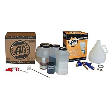 Amazon Com Al S Liner Als Blc Black Truck Bed Liner Kit Free Spray