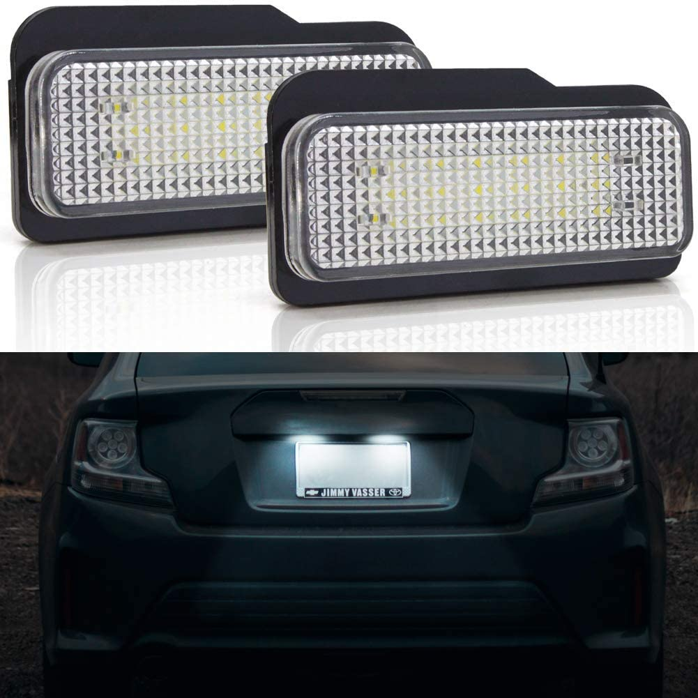 2x LED License Plate Number Lights Car Lamp For Mercedes-Benz W203 W211 W219 5D
