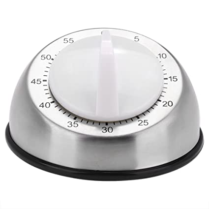 Fdit Stainless Steel Rotary Knob Kitchen Timer Mechanical Alarm Cooking Countdown Clock Mechanical Rotating Timer 60