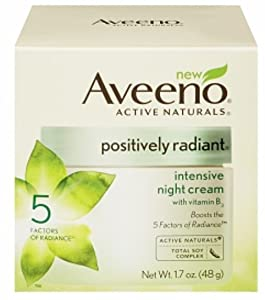 Aveeno Positively Radiant Intensive Night Cream, 1.7 Ounce