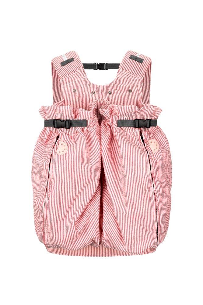 speziell f/ür Zwillinge ab einem Gewicht von 1800g Weego Babytragesack Modell #326 TWIN Red /& White Seersucker