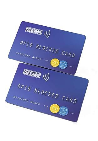 NEVEQ 2 x Tarjetas de Bloqueo RFID & NFC: Seguridad antirrobo para Tarjetas de crédito/débito/DNI. Proteja su información financiera con un ...