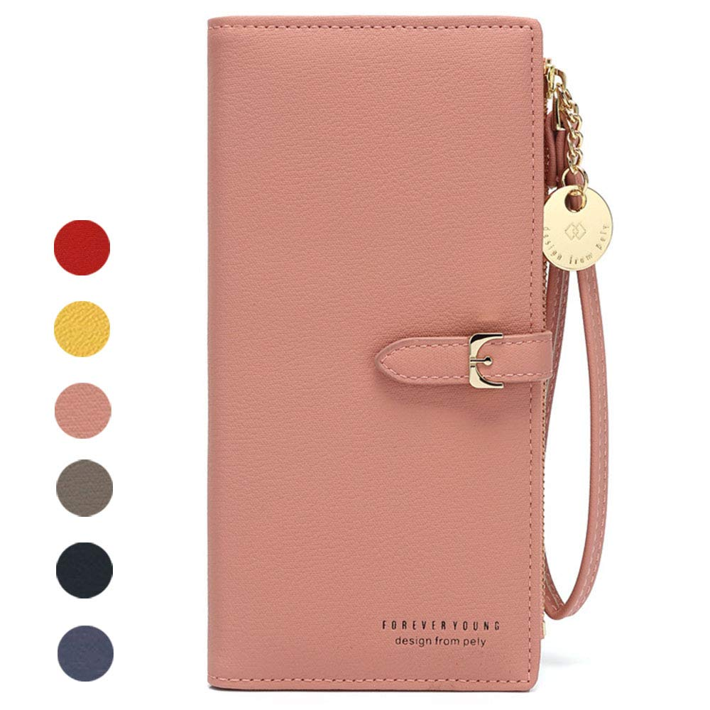 Amazon Com Black Sale Friday Cyber Deal Monday Deals Womens Long Wallet Wristlet Rfid Blocking Wallet Clutch Phone Bag Purse Handbag Zipper Phone Pocket Card Holder Travel Wallet Case For Women Easygogo