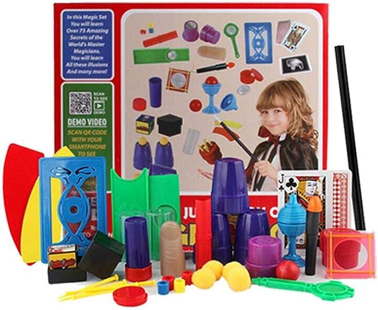Brownrolly Magic Props Set Kids Magic Kit Caja de Regalo Primer Plano Etapa Juguetes mágicos para niños Nueva interacción extraña Kits mágicos Accesorios Juegos al Aire Libre Juego de Fiesta Juguete: Amazon.es: