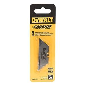 DeWalt Carbide Edge Utility Knife Blade - Last 10x Longer (5-Pack)