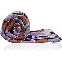 Decoforia Daisy Microfiber Reversible Quilt Blanket AC Comforter, Single