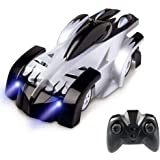 Tuptoel RC Climbing Car for Kids Rechargeable Radio Control with LED Mini 360° Rotating Gravity Remote Control Car Toy Vehicle Stunt Car Black