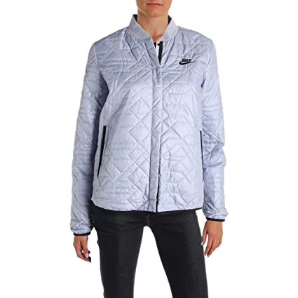 2b49acf76905 Image Unavailable. Image not available for. Color  Nike Women s Sportswear Quilted  Jacket Glacier Grey ...