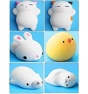 Mini Kawaii suave Cat pollo cierre elástico Squishy juguete ...