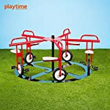 Merry Go Cycle 5 Seat Circle Cycle Merry Go Round Playground Equipment For  Kids