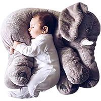 VineCrown Funny Plush Elephant Pillow Cushion Novelty Animal Stuffed Soft Toy Decoration Gift (Grey)