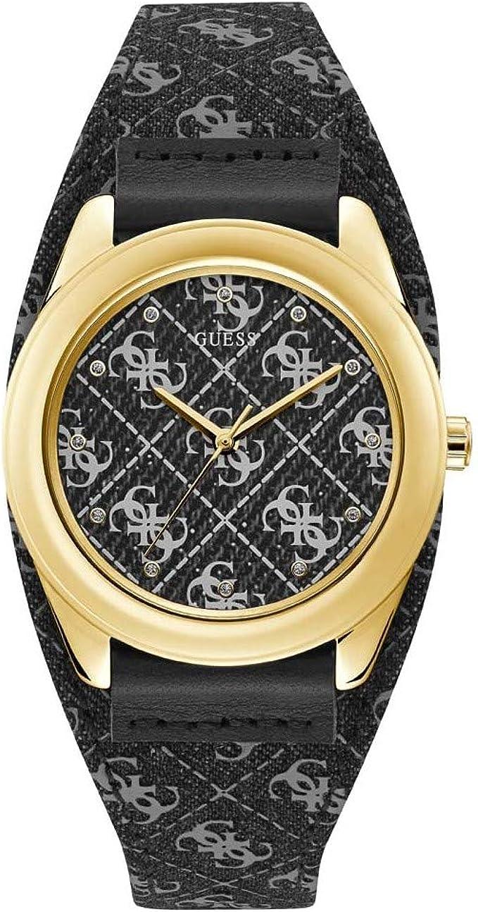 Reloj Guess Eva W1278L2 para Mujer, Color Negro y Dorado, Caja 40 mm: Amazon.es: Relojes