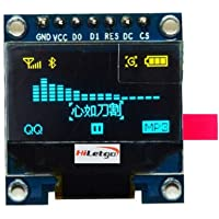 """HiLetgo 0.96"""" SPI Serial 128X64 OLED LCD Display SSD1306 for 51 STM32 Arduino Font Color Yellow and Blue (Yellow & Blue-SPI)"""