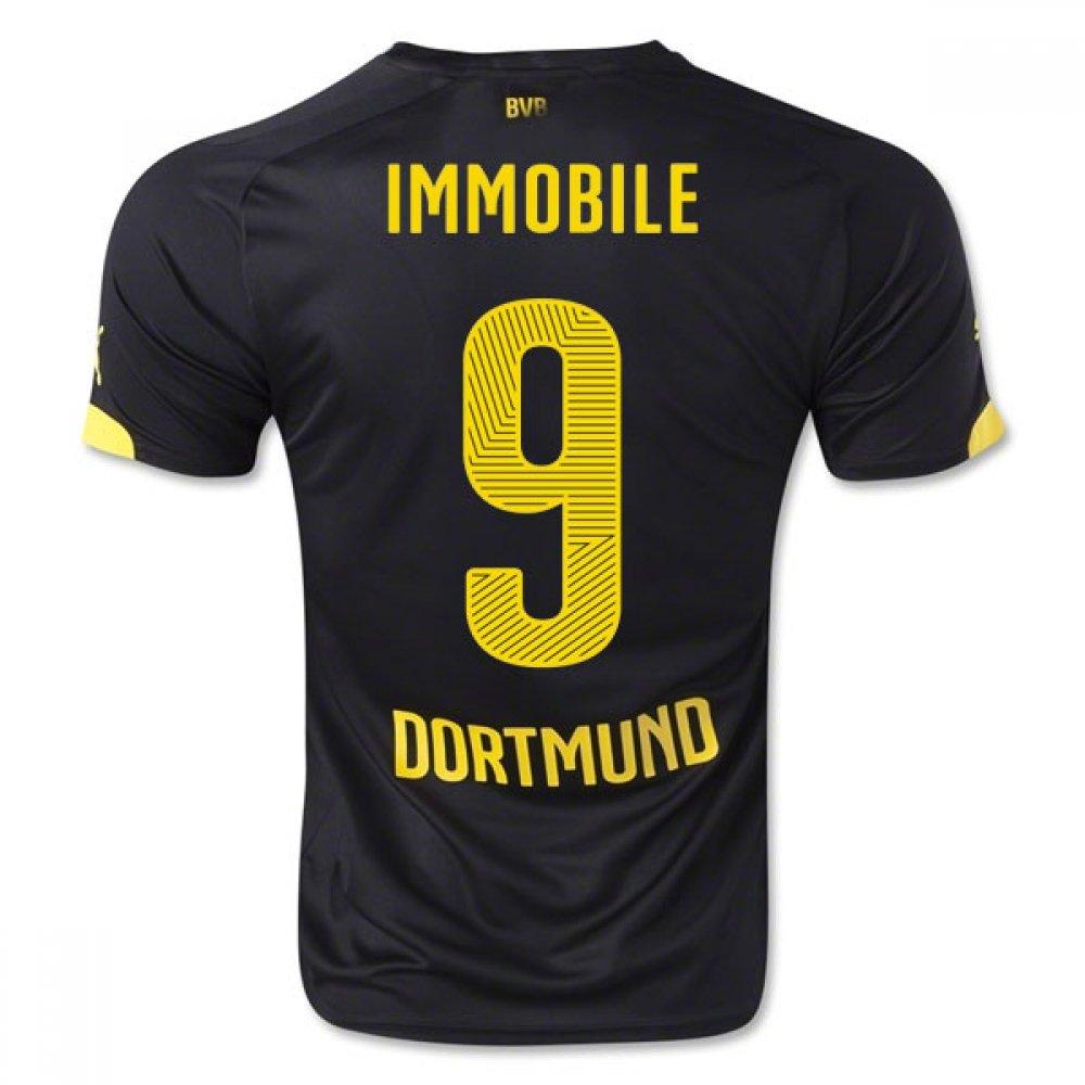 2014-15 Borussia Dortmund Away Shirt (Immobile 9) Kids B077VMZC8VBlack Small Boys 24/26\