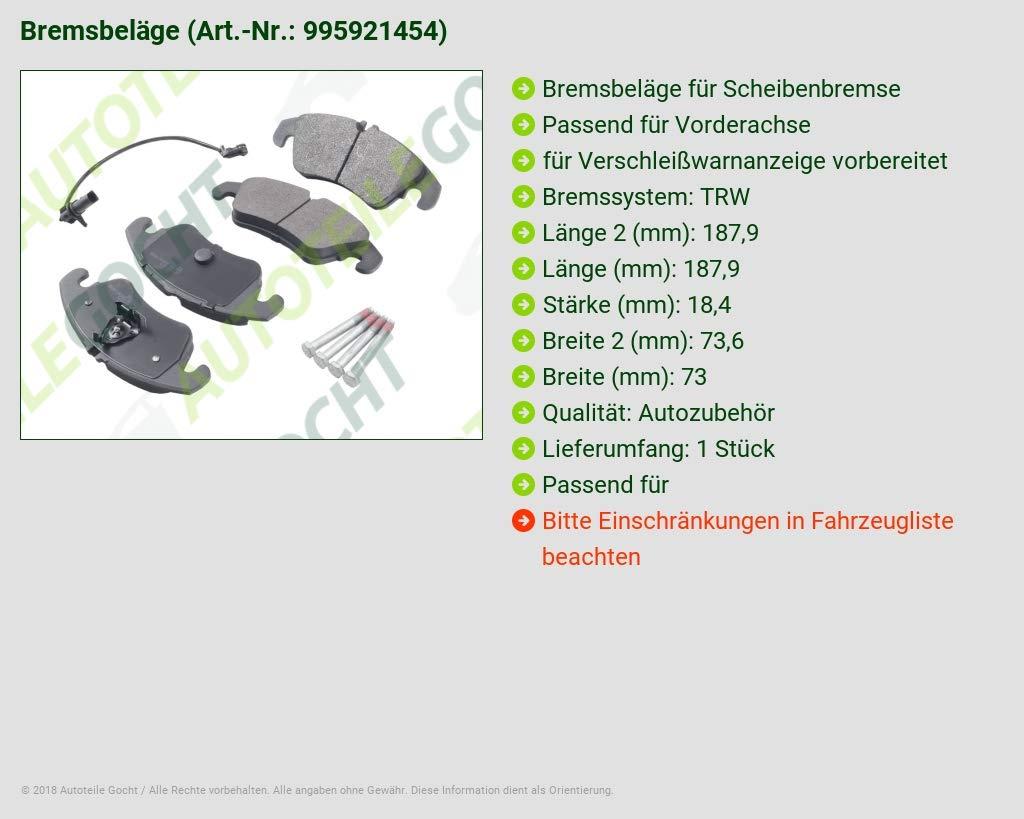 Bremsbel/äge Vorne f/ür A6 C7 4g 4g A7 1.8 2.0 2.8 3.0 11-15