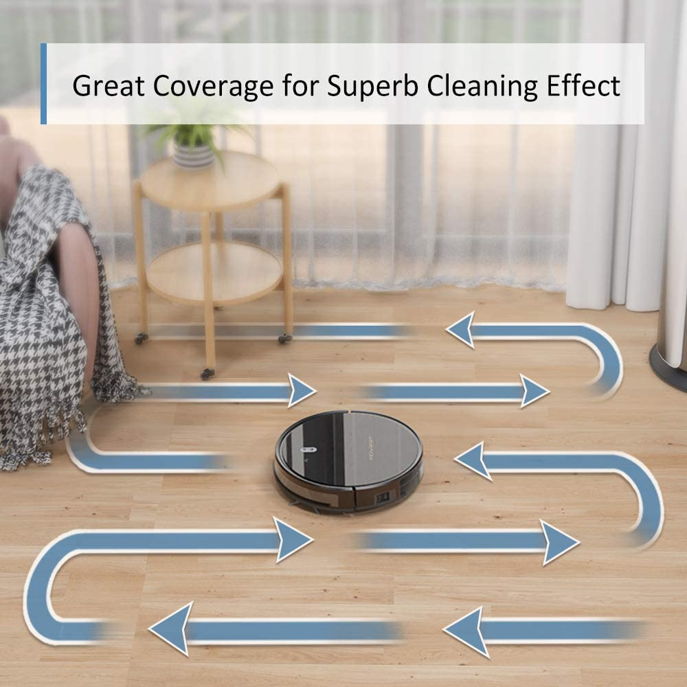 Tesvor Robot Vacuum Cleaner - 4000Pa Strong Suction Robot Vacuum, Alexa Voice and APP Control, Self-Charging Robotic Vacuum Cleaner with 5200mAh Battery, for Low-Pile Carpets, Hard Floors and Pet Hair -