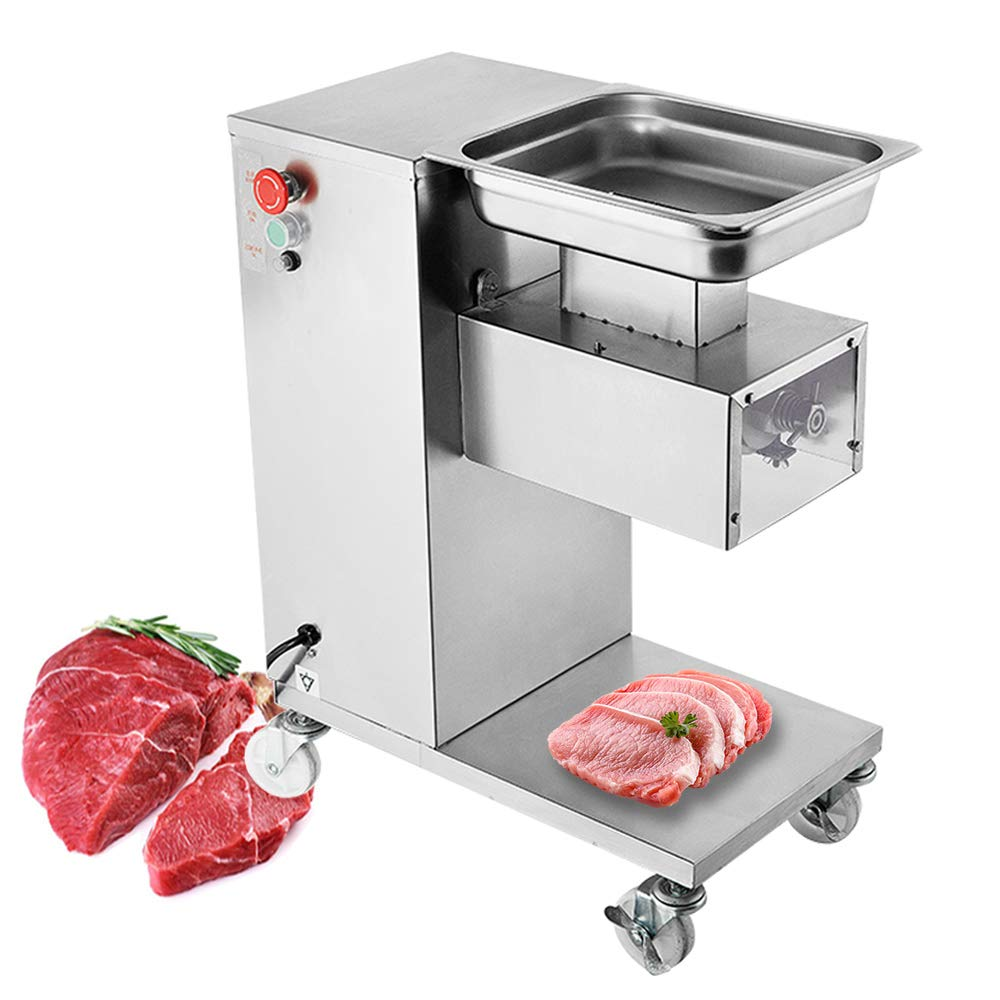 Amazon.com: NEWTRY Commercial Meat Cutter Cutting Machine 1102LBS/H 550W  Electric Stainless Steel QE Fresh Meat Shredded Slicer Processing Machine  (110V, other size blade): Home Improvement