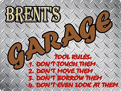 BRENT Garage tool rules diamond plate design parking décor sign 9