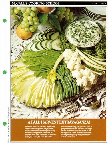 Florentine Cream (McCall's Cooking School Recipe Card (Appetizers 3 - Harvest Vegetables With Sour - Cream Dip Florentine) (Replacement Recipage / Recipe Card For 3-Ring Binders))