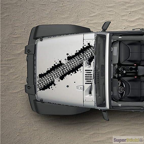 Supersticki Reifenspur Reifenabdruck 4x4 100cm Aufkleber Sticker Decal Aus Hochleistungsfolie Aufkleber Autoaufkleber Tuningaufkleber Racingaufkleber Rennaufkleber Von Aus Hochleistungsfolie Für Auto
