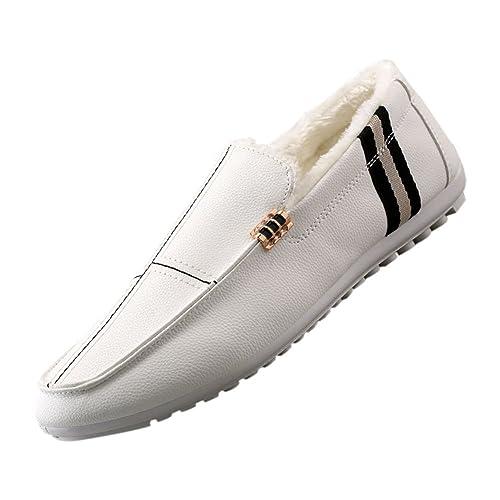 Deylaying Moda Zapatos Casuales Al Aire Libre de Cuero Hombre Mocasines Calzado Plano: Amazon.es: Zapatos y complementos