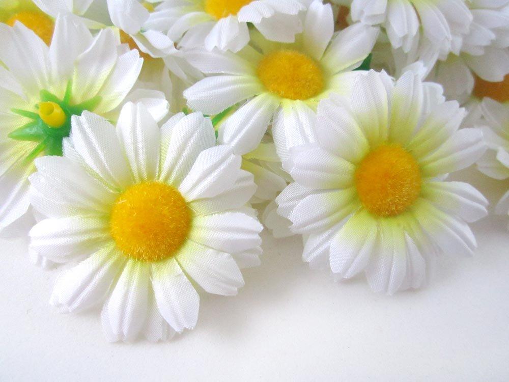 Amazon florist brand silk gerbera daisy flower heads 175 amazon florist brand silk gerbera daisy flower heads 175 100pcs white home kitchen mightylinksfo Choice Image