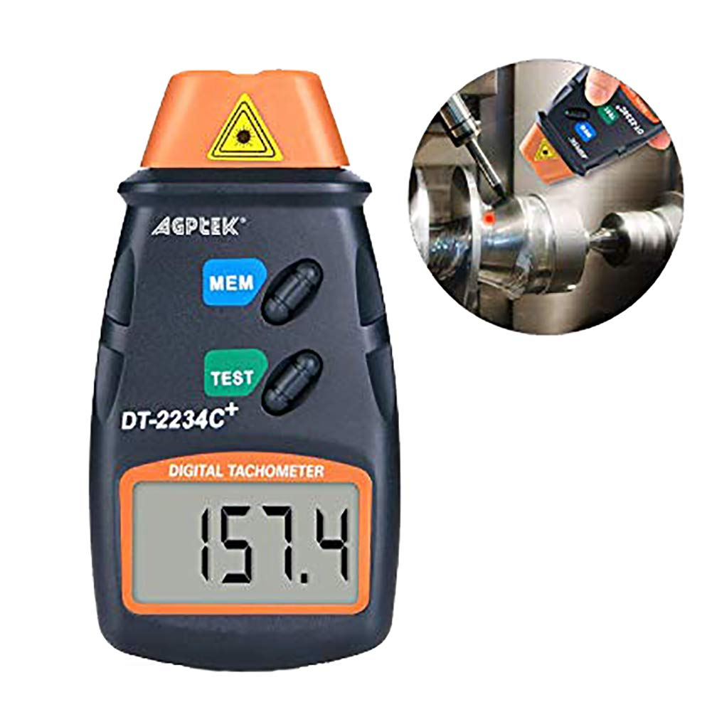 AGPtek/® Professional Digital Laser Photo Tachometer Non Contact RPM Tach