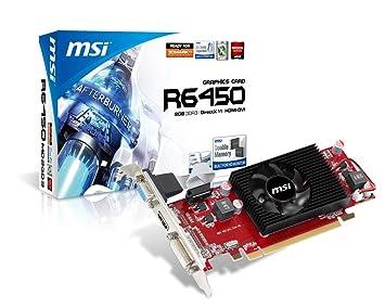 Amazon.com: MSI AMD Radeon r6450-md2gd3/LP Tarjeta de video ...