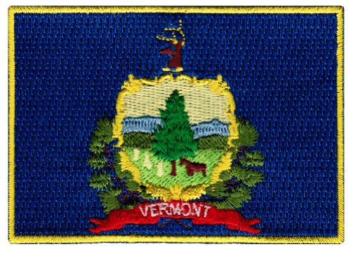 Vermont State Flag Embroidered Patch Iron-On VT Emblem