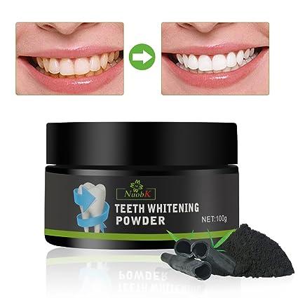 Blanqueamiento Dental Polvo de Blanqueamiento de Carbón Activado Natural Blanqueamiento de Dientes Teeth Whitening Powder (