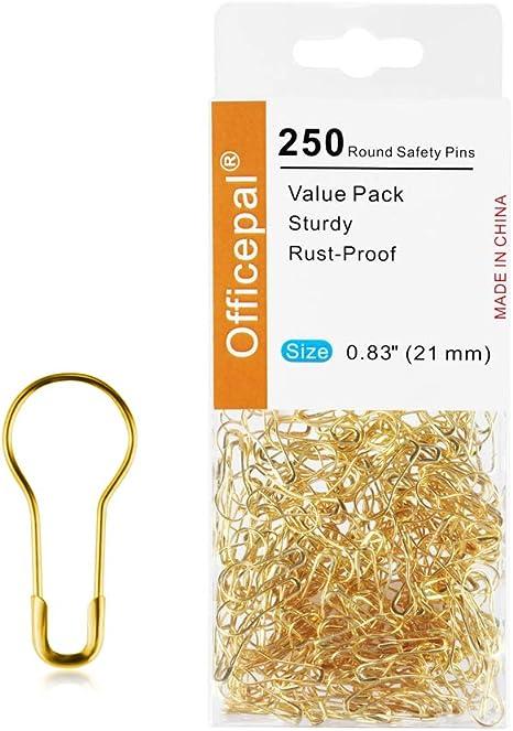 750 Pcs Bulb Safety Pins 15 Assorted Colors Bulb Pins Small Metal Gourd Pins Pear Shaped Safety Pins Calabash Pins