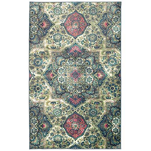 Mohawk Aurora Area Rug 12788 229 Multi Kaleidoscope Petals 5' x 8' Rectangle