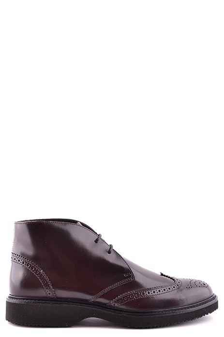 HOGAN EZBC030019 Hombre Marrón Cuero de Charol Botines: Amazon.es: Zapatos y complementos
