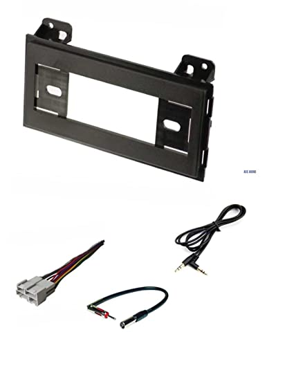 car stereo dash kit, wire harness, antenna adapter for installing a single  din radio