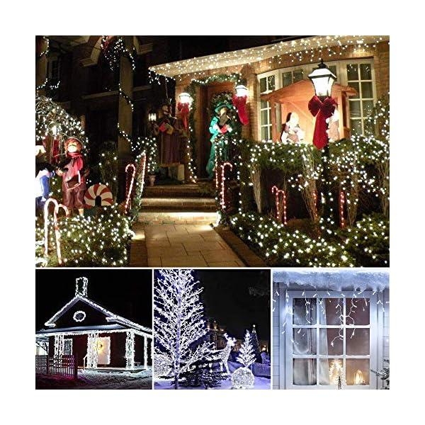 BrizLabs Luci Natalizie Esterno 15M 100 LED Bianco Freddo Luci Stringa 8 Modalità Impermeabile Catena Luminosa Decorazioni Natalizie per Interno, Giardino, Albero di Natale, Matrimonio 6 spesavip