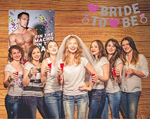 Bachelorette Party Games & Bridal Shower Supplies - 20 Dare Card Game, 30 Drink If Cards, Pin the Macho on the Man w/ 24 Machos, Bride Set Gifts, Naughty Lesbian Hen Party Decor Favors ~ By PRIMEasy by PRIMEasy (Image #6)