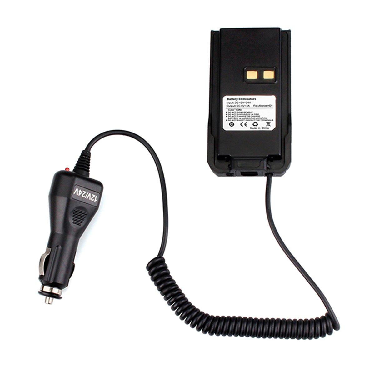 Ailunce Car Charger Battery Eliminator 12V-24V for Ailunce HD1 DMR Radio